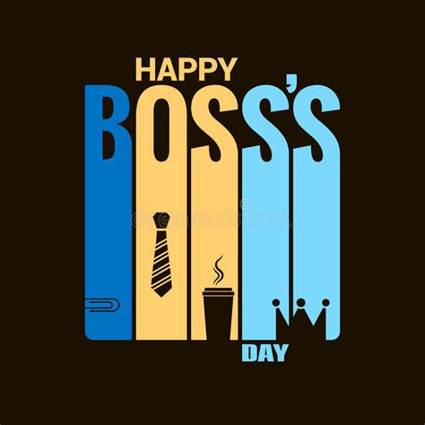 bosses day card template day design vector background stock vector