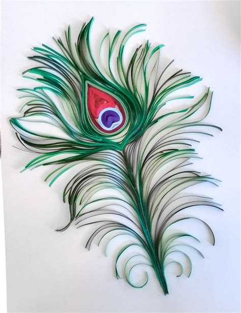 How To Make Peacock Feather With Paper - 132 best mainely quilling s paper gallery images on