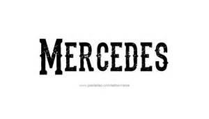 Mercedes Name Mercedes Name Designs