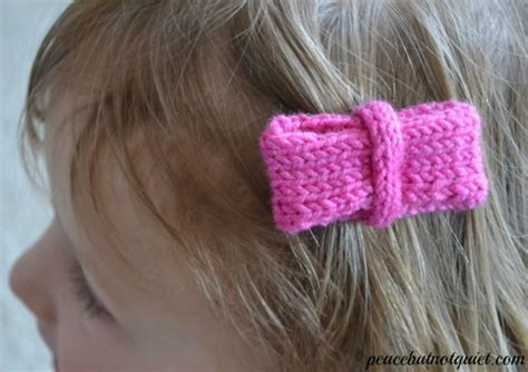 how to knit a hair bow knit bow ties and hair bows