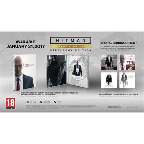 hitman the complete season cheats gameplay ps4 xbox one guide unofficial books hitman the complete season steelbook ps4 zavvi