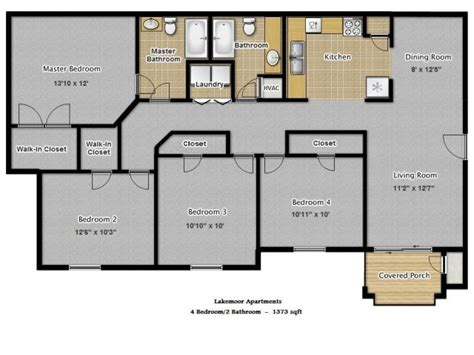 four bedroom flat floor plan lakemoor durham nc apartment finder