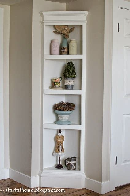 Built In Shelf {the easy way} & Tutorial   Start at Home Decor