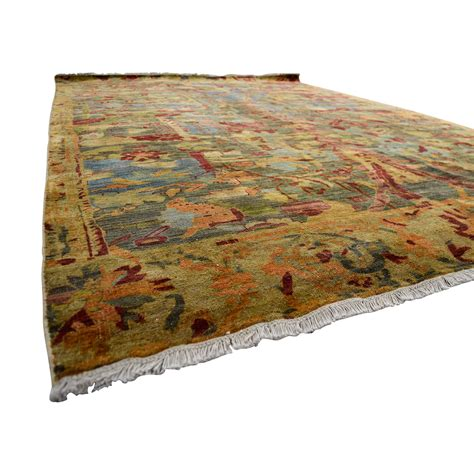obeetee rugs 76 obeetee obeetee knotted and green floral wool rug decor