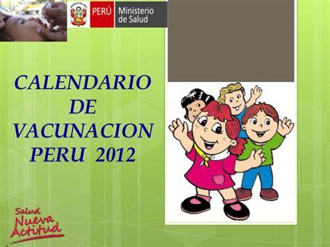 calendario de vacunacion wwwaventurarnet63net esquema vacunacion peruana cicat salud