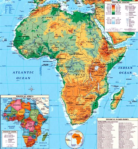 map of africa countries maps of continent countries capitals and flags