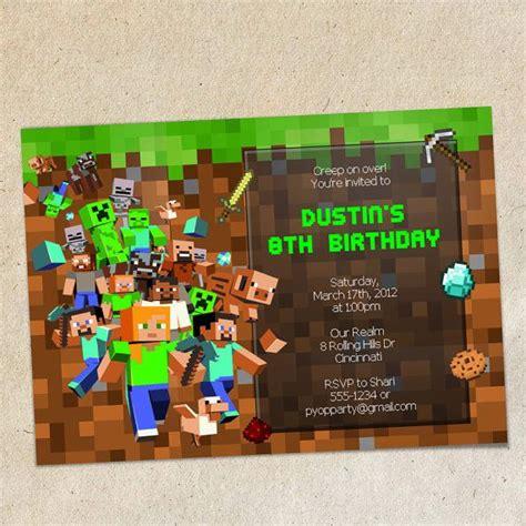 minecraft birthday invitations templates this is for a invitation template as shown this is an