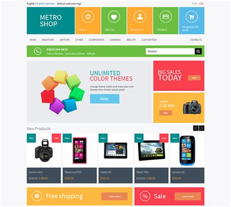 web layout styles the best metro style themes for wordpress joomla magento