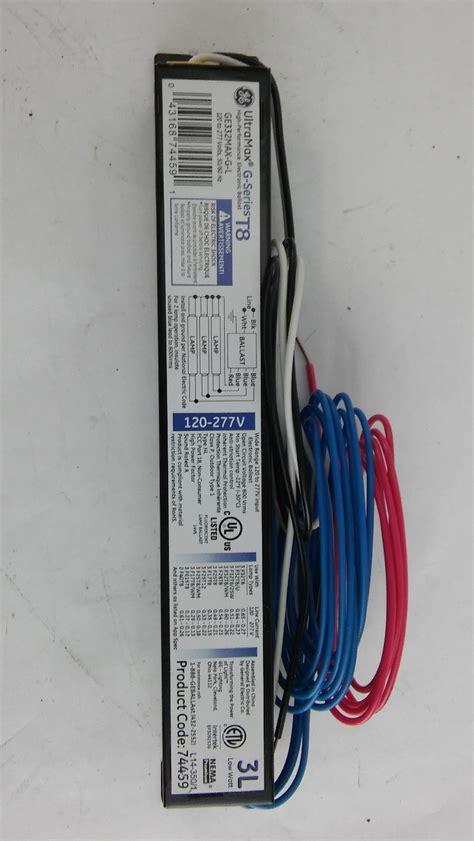 electronic ballast t8 ls 120 277v ge lighting ge332max g l electronic ballast t8 ls 120