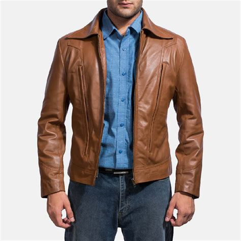 brown leather jacket mens school brown leather jacket