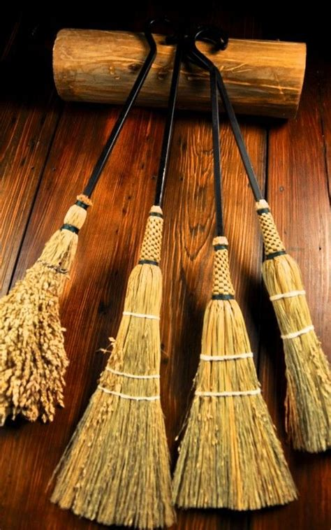 Handmade Brooms - handmade wrought iron hearth brooms by organic artist tree
