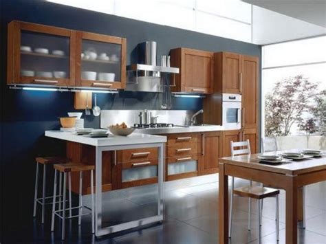 modern kitchen color blue kitchen cherry cabinets quicua