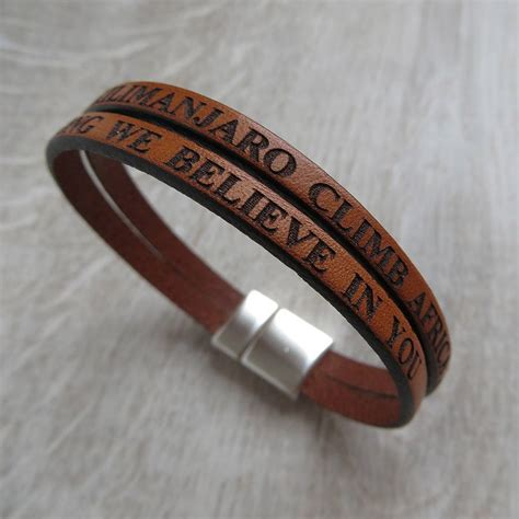 leather bands for jewelry personalised real leather bracelet by gracie