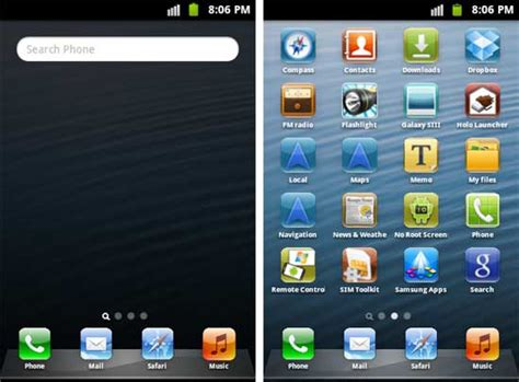 iphone launcher for android iphone 5 launcher for android mask your android phone as iphone 5 techtrickz