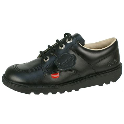 kickers kick lo y kid s black black unisex free delivery at shoes co uk