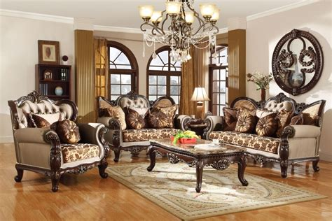 Antique Living Room Sets Antique Style Wing Back Sofa Seat Provincial Living Room Set
