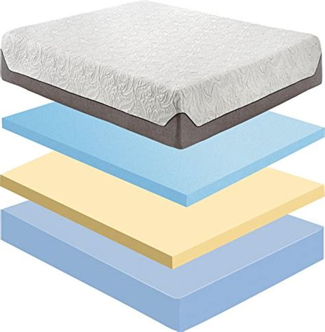 flex form 10 quot cooling air flow gel memory foam with engineered hybrid mattress king