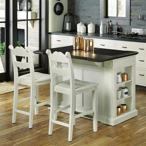 White Kitchen Islands With Seating | home styles fiesta weathered white kitchen island with seating 5076 948g the home depot