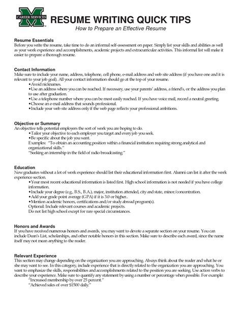 successful resume format exles exles of successful resumes oursearchworld