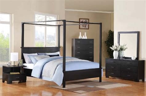 Black King Canopy Bedroom Sets by Acme Furniture Black 5 King Canopy Bedroom