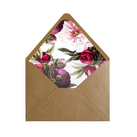 printable floral envelope liners printable maroon and light pink floral envelope liner
