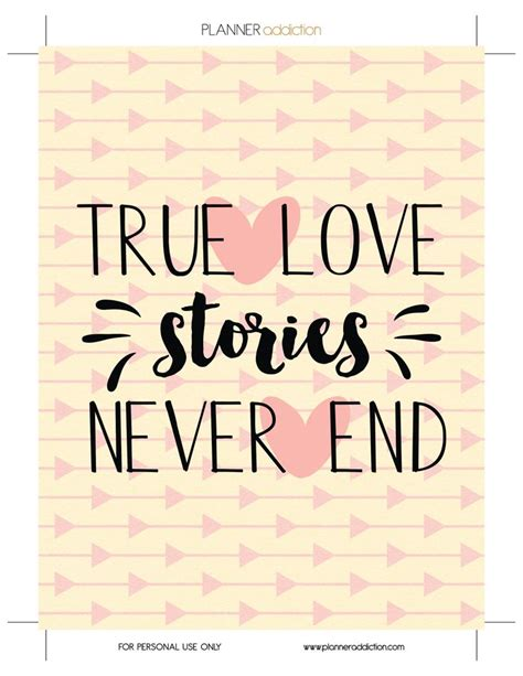 printable happy planner cover true love stories never end stickers pinterest
