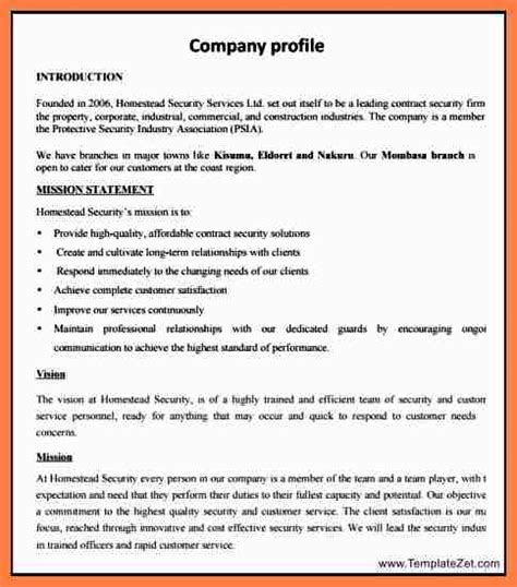 Simple Business Profile Template 5 new company profile sle company letterhead
