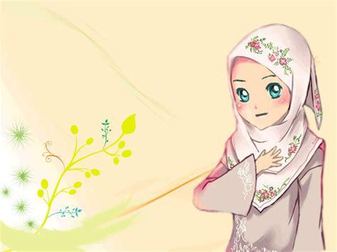wallpaper cantik kartun korea gambar kartun muslimah cantik berhijab animasi bergerak