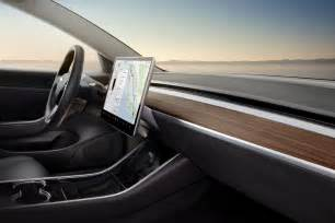 Tesla Interior Photos Exclusive Images From Tesla Model 3 Reveal Event