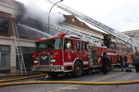 st louis truck large four alarm warehouse in st louis mo today