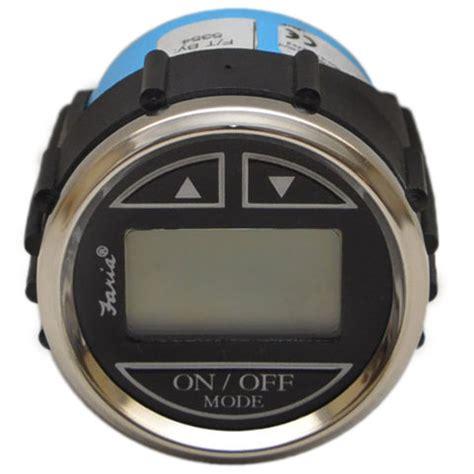 digital depth gauge for boats faria ds0111a silver black 2 inch marine boat digital