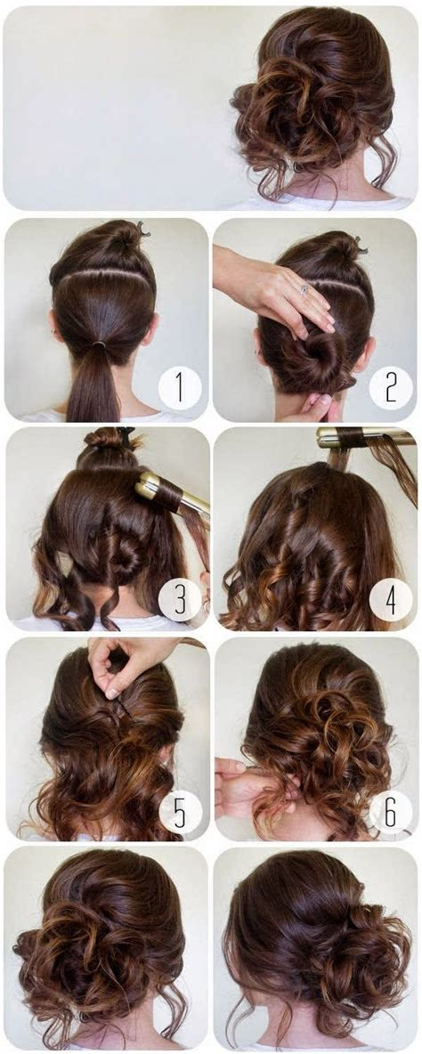 step by step easy updos for thin hair 25 best ideas about bun updo on pinterest messy chignon