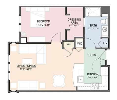 open floor plan apartment one bedroom open floor plans view floor plan download