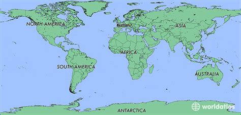 austria on the world map where is austria where is austria located in the world