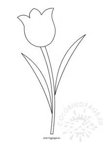flower template printable tulip flower template printable coloring page
