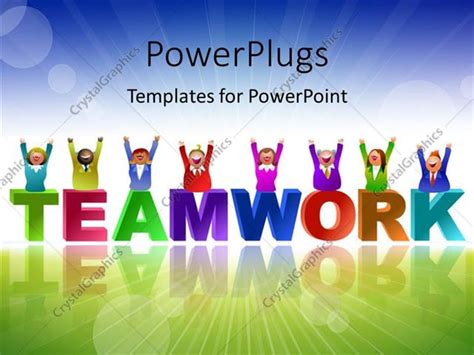 free teamwork powerpoint templates powerpoint template team in different colors the
