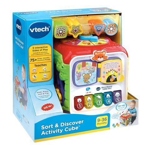 vtech learning activity vtech sort discover activity cube best educational
