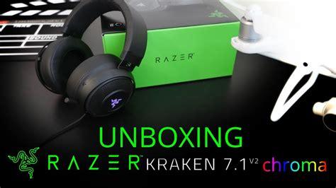Razer Kraken 7 1 V2 Chroma unboxing fone razer kraken 7 1 v2 chroma