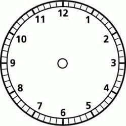 Blank Clock Template by Blank Clock Template Clipart Best