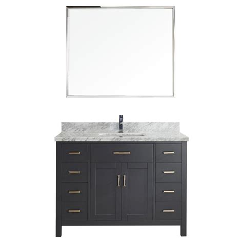 48 inch bathroom vanity top 48 inch bathroom vanity vanity in pepper gray with