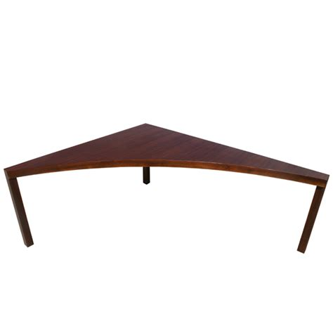 vintage walnut milo baughman corner sofa table ebay