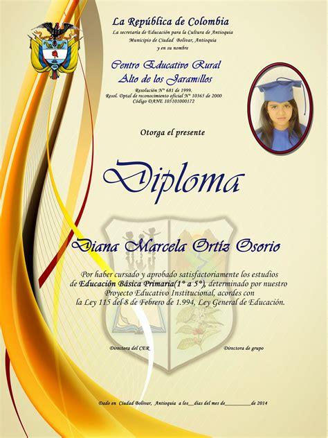 diseo de letras de diploma diplomas y mosaicos escolares nuevos dise 209 os diplomas y