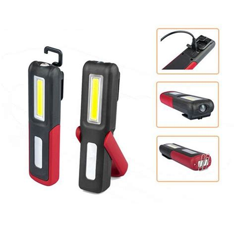 Lu Emergency Cob Led 3w portable cob led magnetic work light usb rechargeable cing lantern hanging emergency torch