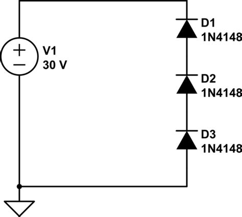 what are series diodes diodes in series biased electrical engineering stack exchange