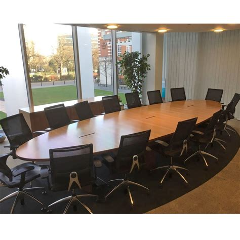 Oval Boardroom Table Oval Walnut Veneer Boardroom Table Oval Conference Table Meeting Table