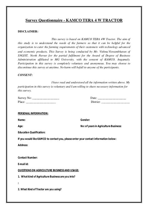 Cover Letter Exles Questionnaires How To Write A Questionnaire For Dissertation