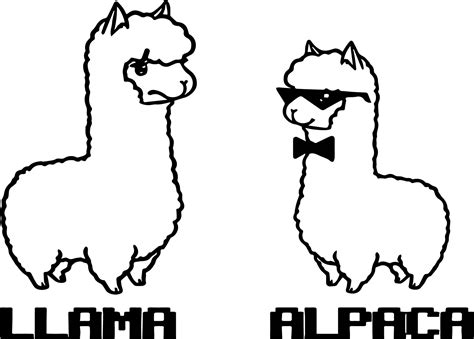 Llama Coloring Pages llama coloring pages coloringsuite