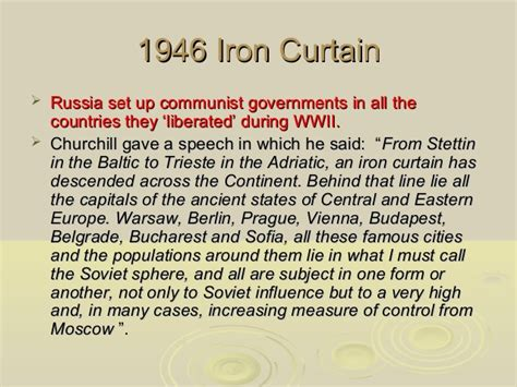 who said an iron curtain has descended across the continent the cold war 1945 50