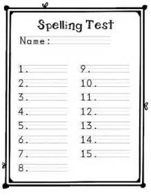choice spelling test template spelling test template for primary spelling