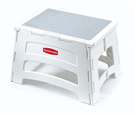 Folding Plastic Step Stool by Rubbermaid Folding Plastic Foldable Step Stool Standing